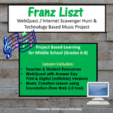 Music of Franz Liszt - WebQuest & Music Composition Project | Distance Learning