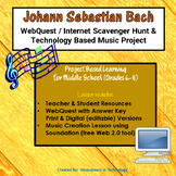 Music of Johann Bach - WebQuest & Music Composition | Distance Learning