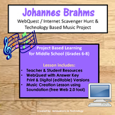 Music of Johannes Brahms - WebQuest and Music Composition | Distance Learning