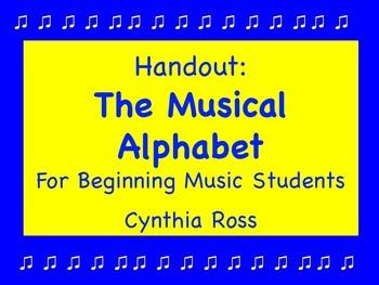 The Musical Alphabet Study Guide