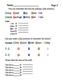 The Musical Staff Worksheet (Treble Clef)