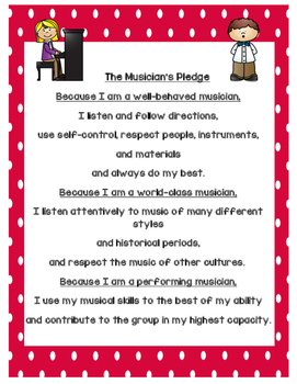 "The Musician's Pledge (A perfect ""Back to School"" reminder!)"