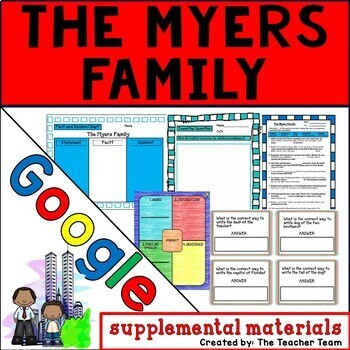 The Myers Family Journeys 6th Grade Lesson 5 Google Digital Resource