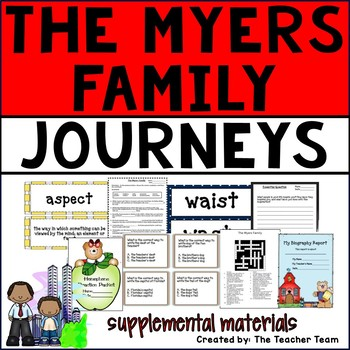 The Myers Family Journeys 6th Grade Unit 1 Lesson 5 Activities and Printables
