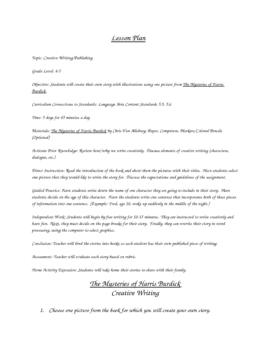 The Mysteries of Harris Burdick Lesson Plan