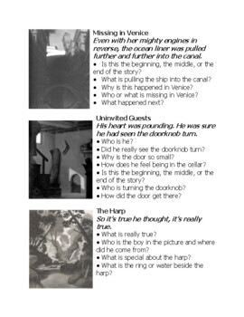 The Mysteries of Harris Burdick Question and Picture Strips