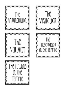 The Mysteries of the Rosary Sequencing Cards