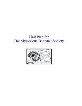 The Mysterious Benedict Society Complete Literature and Grammar Unit