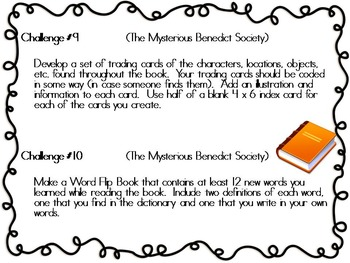 The Mysterious Benedict Society, by T. Stewart, 12 Project Challenges