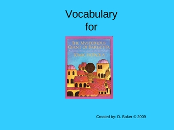 The Mysterious Giant of Barletta Vocabulary