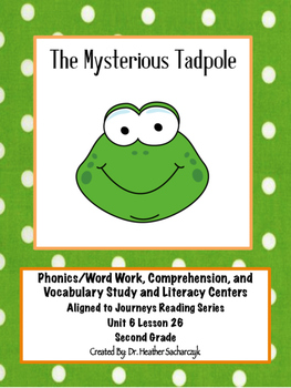 The Mysterious Tadpole Aligned to Journeys Reading Series Stations