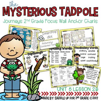 The Mysterious Tadpole Focus Wall Anchor Charts and Word Wall Cards