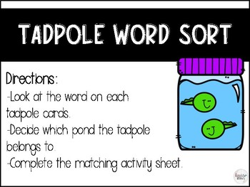 The Mysterious Tadpole Journey's Literacy Centers - Second Grade Lesson 26