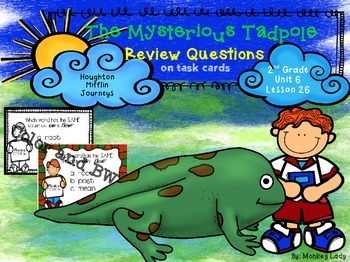 The Mysterious Tadpole Review Task Cards for Houghton Mifflin Journeys
