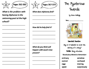 The Mysterious Tadpole Trifold - Journeys 2nd Grade Unit 6 Week 1 (2011)