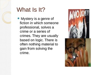 The Mystery Story Genre
