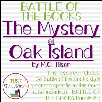 The Mystery at Oak Island Battle of the Books Trivia Questions