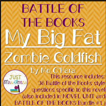 My Big Fat Zombie Goldfish Battle of the Books Trivia Questions