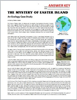 Rounding Numbers To The Nearest 10 100 And 1000 Worksheets Pdf Mystery Of Easter Island  An Ecology Case Study Activity Free  Place Value 4th Grade Worksheets Excel with Cnidarian Worksheet The Mystery Of Easter Island  An Ecology Case Study Activity Free  Editable Core Curriculum Math Worksheets
