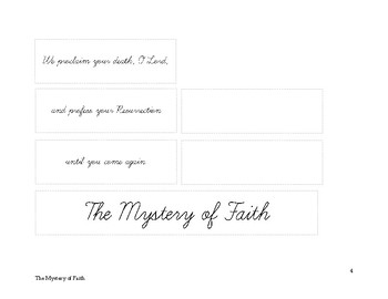 The Mystery of Faith cards and booklet