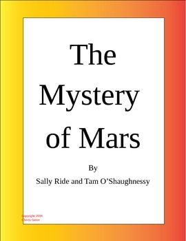 The Mystery of Mars By Sally Ride and Tam O'Shaughnessy Im