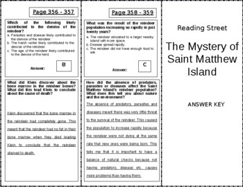 The Mystery of Saint Matthew Island - 5th Grade Reading Street