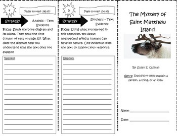 The Mystery of Saint Matthew Island Trifold 5th Grade Unit 6 Week 2