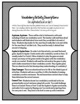 The Mystery of Saint Matthew Island Vocabulary Games & Activities Unit 6 Story 2