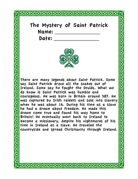 The Mystery of Saint Patrick
