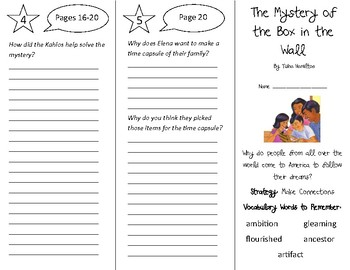 The Mystery of the Box in the Wall Trifold - 4th Gr Literacy by Design Theme 1