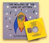 The Mystery of the Land of Letters Full Size Book w/ audio CD
