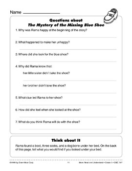 The Mystery of the Missing Blue Shoe