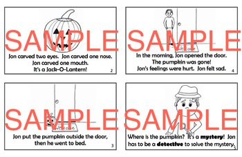 The Mystery of the Missing Pumpkin - October Halloween Book Activities Printable