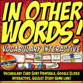 The NEW NATION UNIT Vocabulary Card Sort, Google Interacti