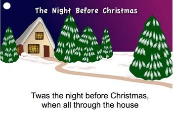 """The Night Before Christmas"" Read-Along Video/Movie by Troxel / Audio Memory"