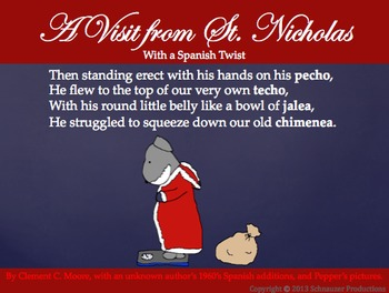 The Night Before Christmas with Spanish Vocabulary from Pepper