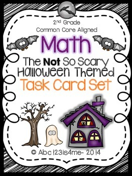The NOT So Scary Halloween Math Task Cards: All 4 Common C