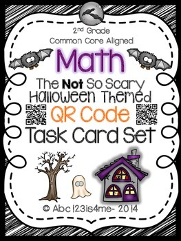 The NOT So Scary Halloween Math Task Cards {QR Codes}: All 4 Common Core Domains