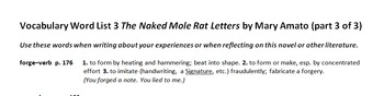 The Naked Mole Rat Letters by Mary Amato - Great Resources!