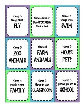 Categories - The Name Game
