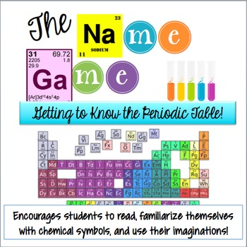 The Name Game Getting To Know The Periodic Table By Biology Roots