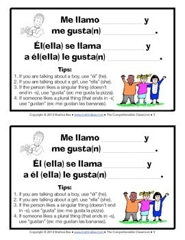 ¿Qué te gusta?: reading and communicative activity for Spanish 1