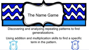 The Name Game -  Smart Board Lesson