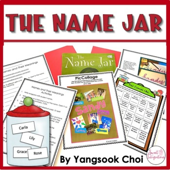 THE NAME JAR - Book Study and Back to School Activities