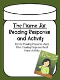 The Name Jar- Reading Response and Activity