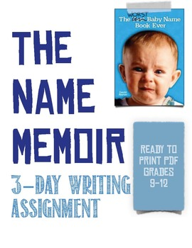 The Name Memoir: A 3-Day Writing Activity and Lesson