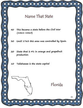 The Name That State Game