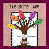 The Name Tree - (Editable Fall Tree Craftivity)