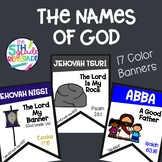 The Names of God- 17 Color Banners