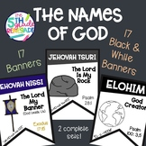 The Names of God- Color and Black & White (34 total banners)